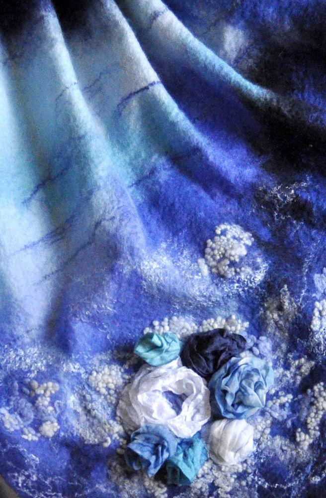 мк по валянию, нуно, мокрое валяние, легкий шарфик