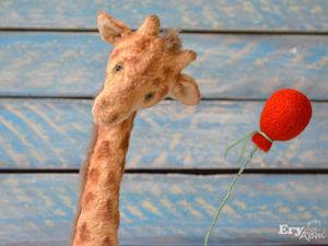 Видеообзор на жирафа тедди Рея. Ярмарка Мастеров - ручная работа, handmade.