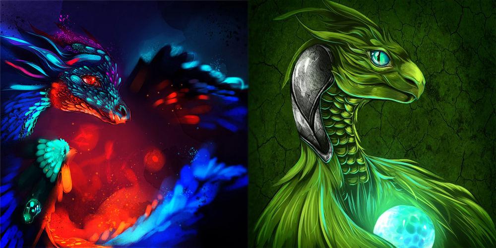 рисунки с драконами