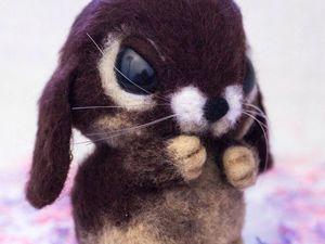 Видео мастер-класс для начинающих: валяем пушистого кролика. Ярмарка Мастеров - ручная работа, handmade.