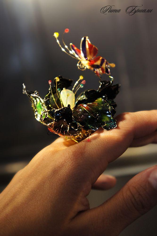 fluorita design, коктейльное кольцо