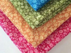 Набор тканей самых летних цветов | Ярмарка Мастеров - ручная работа, handmade