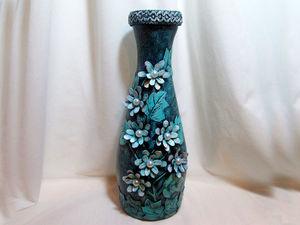 Видео мастер-класс: как превратить стеклянную бутылку в шикарную вазу. Ярмарка Мастеров - ручная работа, handmade.