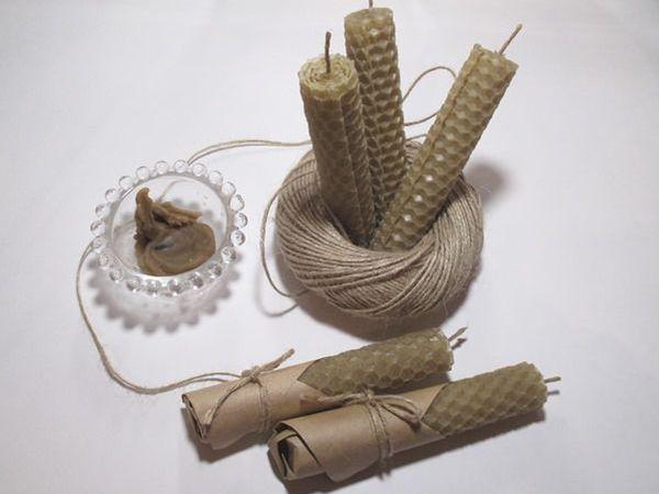 Делаем свечи из вощины   Ярмарка Мастеров - ручная работа, handmade