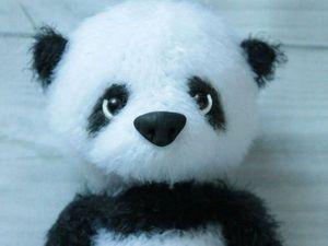 Вяжем крючком милого медвежонка-панду. Ярмарка Мастеров - ручная работа, handmade.
