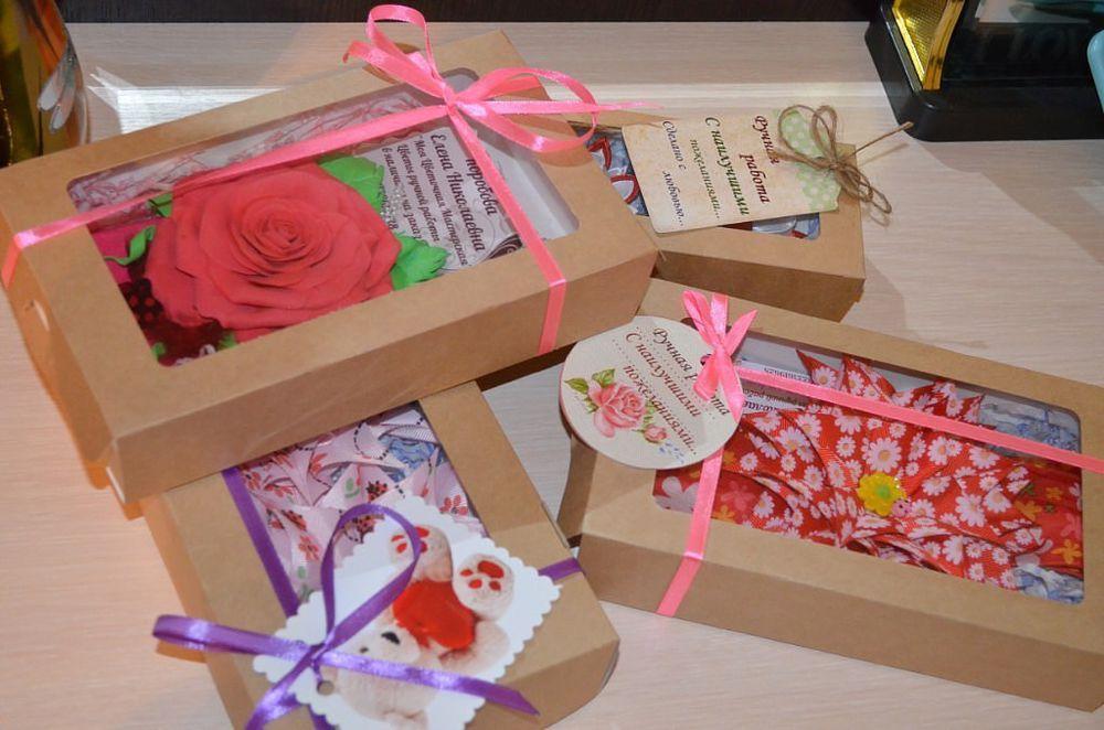 крафт-коробка, упаковка, коробка для хендмейд, коробочка с окном, коробки, квадратная коробочка