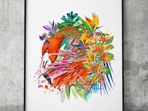 Ещё одна тропическая новинка «Фламинго». Ярмарка Мастеров - ручная работа, handmade.