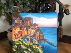 Морской пейзаж! море, горы, Италия!!. Ярмарка Мастеров - ручная работа, handmade.