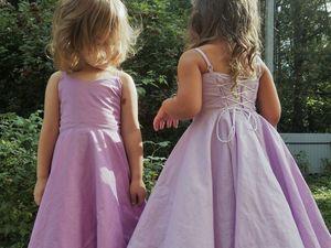 Шьем своими руками нарядное платье для маленькой принцессы. Ярмарка Мастеров - ручная работа, handmade.
