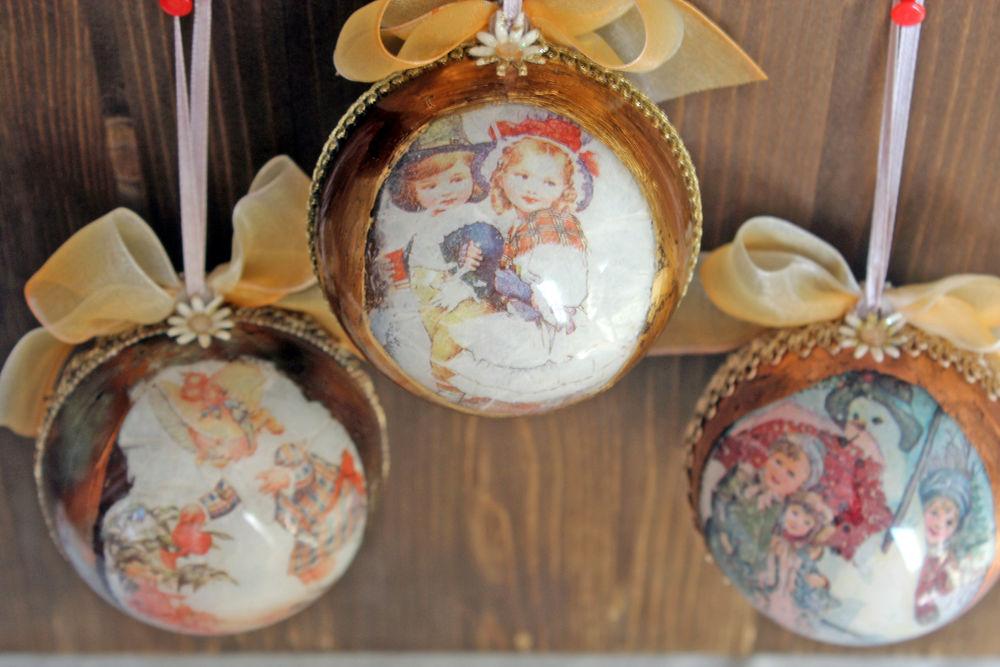 новогодний короб шары