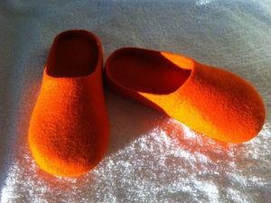 Тапочки-шлепанцы с гарбо-пяткой. Технология вставной пятки   Ярмарка Мастеров - ручная работа, handmade