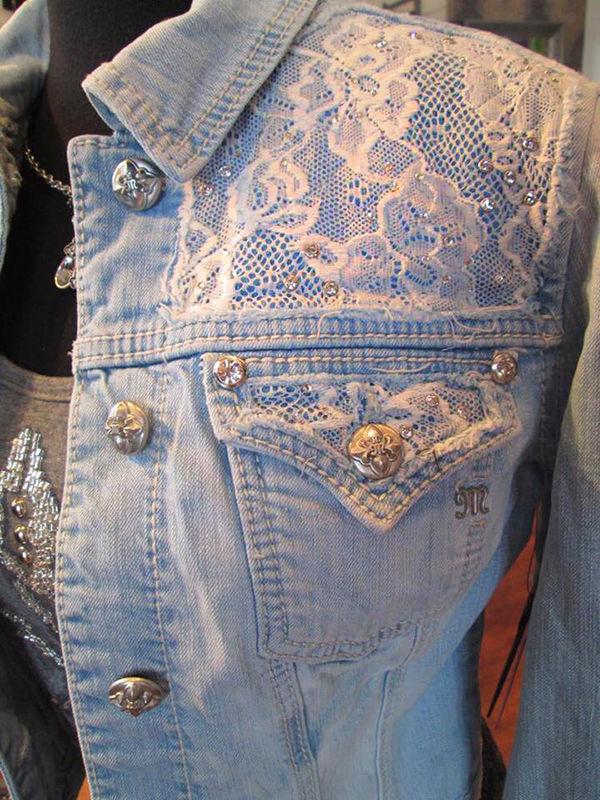 Многообразный декор джинсовых курток: 50 интересных вариантов, фото № 23