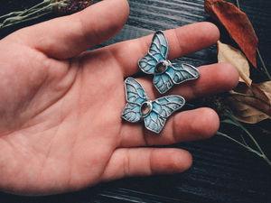 Новинка!!!    Heavenly.Брошь бабочка.Брошь ручной работы.Готовая работа. Ярмарка Мастеров - ручная работа, handmade.