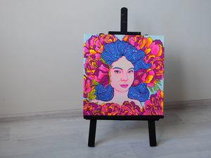 Светящийся в ультрафиолете и в темноте портрет по фото. Ярмарка Мастеров - ручная работа, handmade.