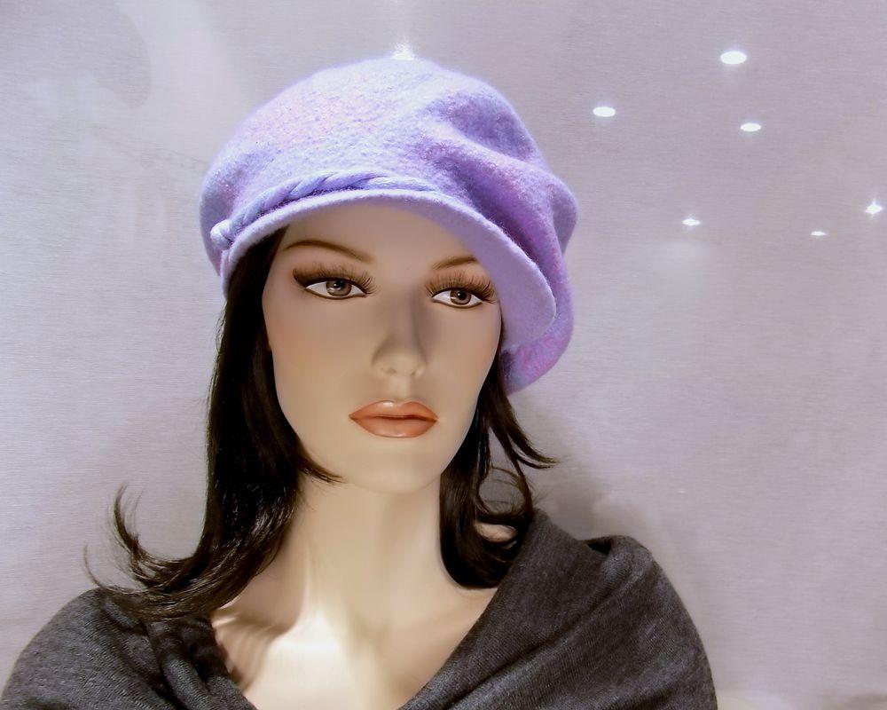 валяние на шаблоне, шляпка с вуалью