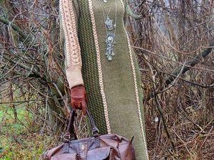 Зимняя новинка - вязаное платье с косами. Ярмарка Мастеров - ручная работа, handmade.