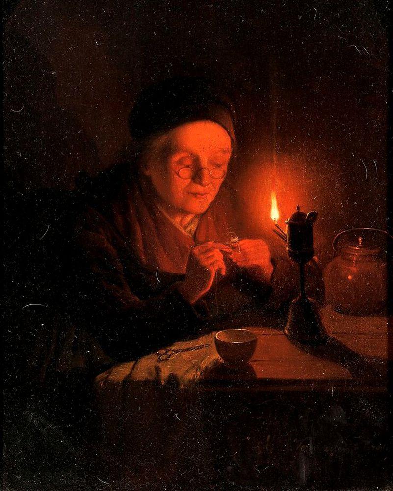 Когда есть чем заняться — стареть некогда: душевные картины о бабушках-рукодельницах, фото № 13