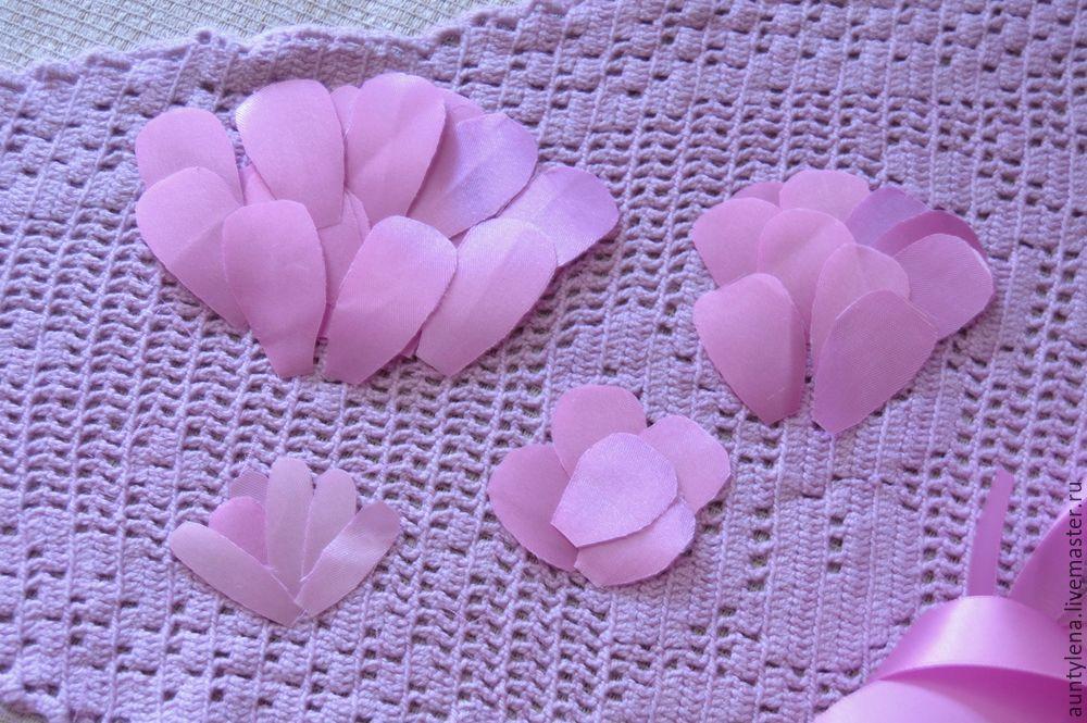 цветок из ленты мк