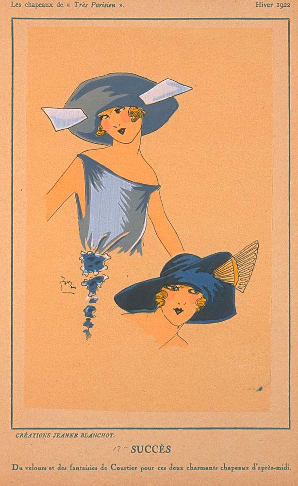 Ах, какие шляпки! Шляпная мода 1922 года по версии французского журнала «Les chapeaux du Tres parisien». Часть 2, фото № 38