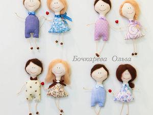 Текстильные магниты на холодильник: шьем парочку кукол-неразлучников | Ярмарка Мастеров - ручная работа, handmade