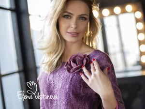 Новинка в магазине: авторское платье  «Нежно-лиловая роза». Ярмарка Мастеров - ручная работа, handmade.
