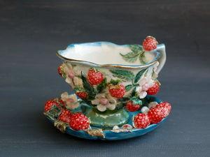 Чайная пара с малиной в наличии!. Ярмарка Мастеров - ручная работа, handmade.