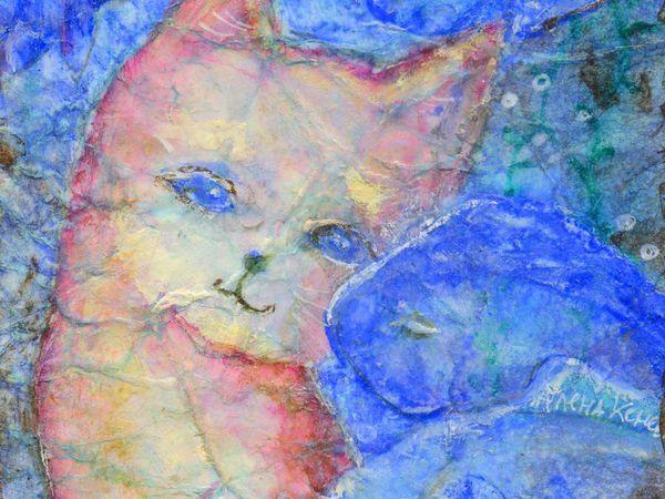 Голубая мечта розовой кошки! В тепле рук прибавление семейства! | Ярмарка Мастеров - ручная работа, handmade