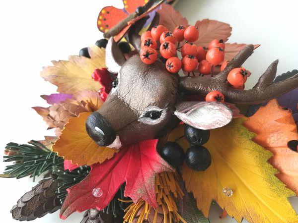 Осень в лесу. Колье | Ярмарка Мастеров - ручная работа, handmade