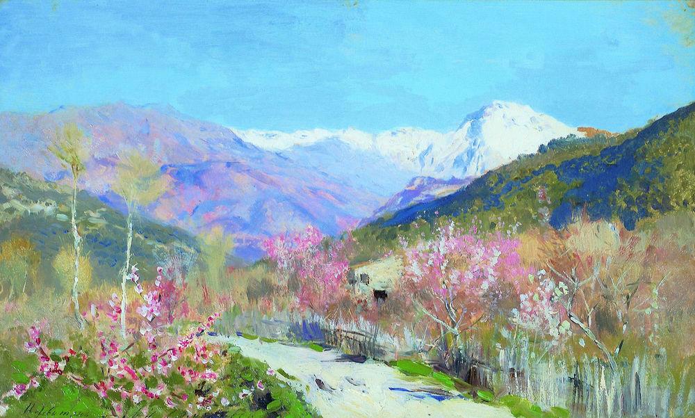 левитан, весна, живопись, картина