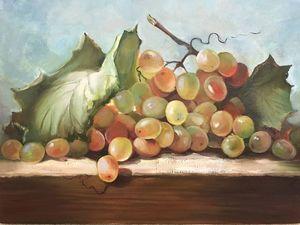 Пишем поэтапно натюрморт с виноградом. Ярмарка Мастеров - ручная работа, handmade.