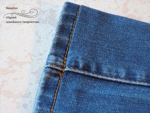 How to Shorten Jeans Preserving Their Acid Washed Edges. Livemaster - handmade