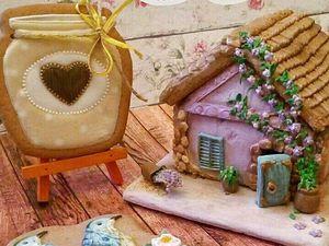 Роспись имбирных пряников и домика | Ярмарка Мастеров - ручная работа, handmade