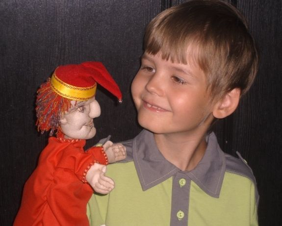 петрушка, кукольный театр, кукла из колготок