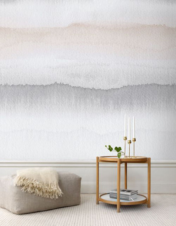 The Tenderest Interior: Abstract Watercolours on Modern Wallpapers, фото № 12