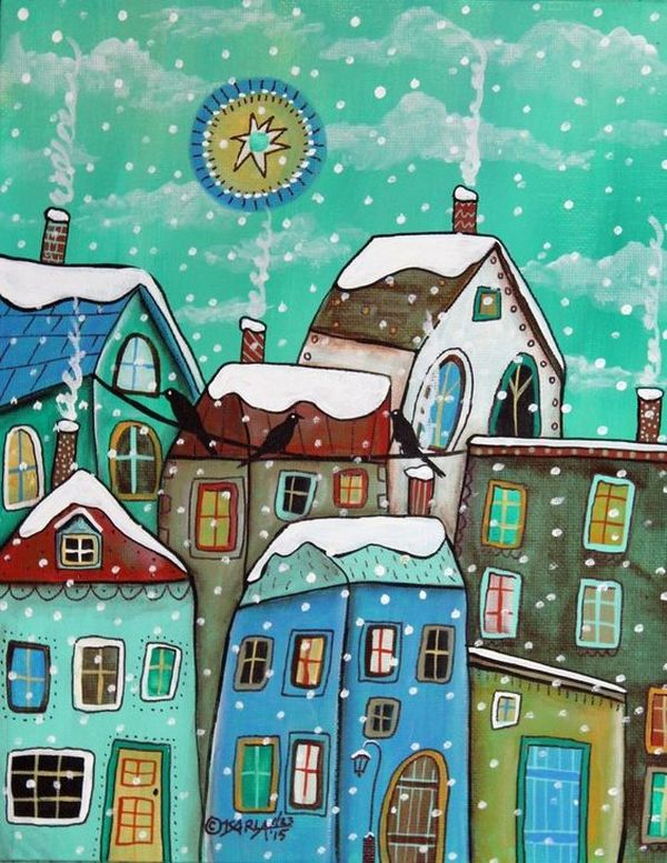 Gingerbread Houses by the Artist Karla Gerard | Журнал