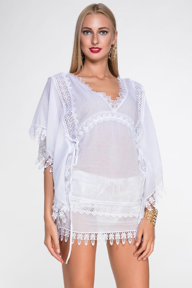 Белое бохо, или Шикарная одежда для королевы летнего пляжа, фото № 19