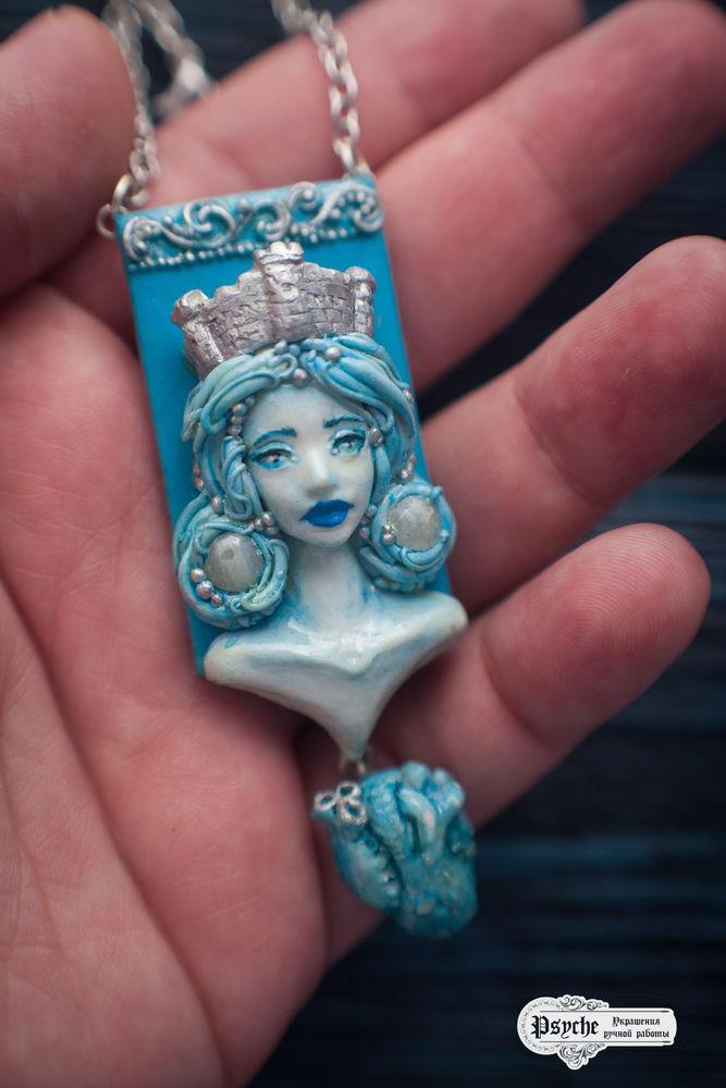 полимерная глина кулон, авторские украшения