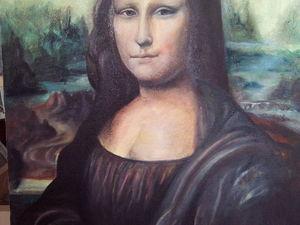 Скидка 55% на картину Джоконда. Ярмарка Мастеров - ручная работа, handmade.