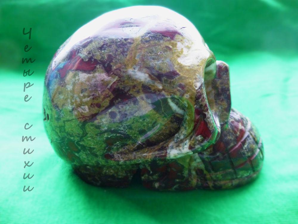 череп, яшма, минералы