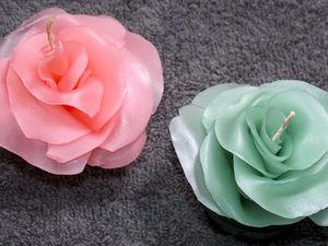 Делаем декоративную свечу-розу: видео мастер-класс. Ярмарка Мастеров - ручная работа, handmade.