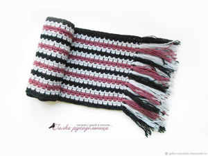 Быстрый аукцион на мужской шарф до 18.00 !. Ярмарка Мастеров - ручная работа, handmade.