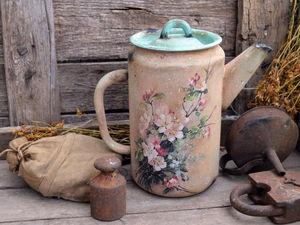 Декорируем чайник в стиле «Кантри». Часть 2. Ярмарка Мастеров - ручная работа, handmade.