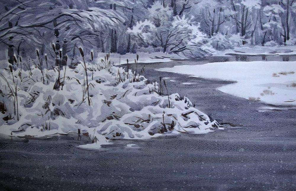 Акварельные пейзажи художника Ильи Горгоца, фото № 32