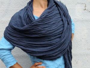 2 Июля! Лето -Лён! Всем поркупательницам в подарок шарф изо льна!. Ярмарка Мастеров - ручная работа, handmade.