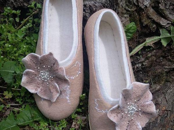 Мастер класс по валянию тапочек-балеток | Ярмарка Мастеров - ручная работа, handmade