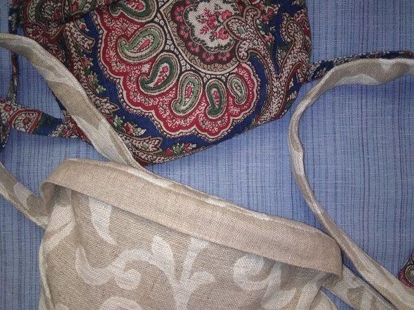 Поясная женская сумка из льна   Ярмарка Мастеров - ручная работа, handmade