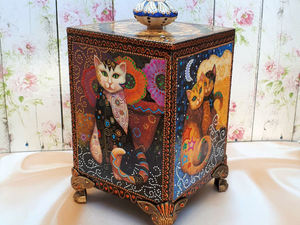 Короб Лунные коты — фотоотчет. Ярмарка Мастеров - ручная работа, handmade.