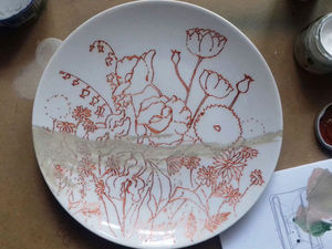 Рисуем полевые цветы на тарелке. Ярмарка Мастеров - ручная работа, handmade.