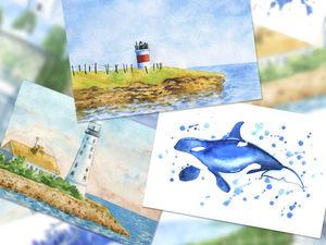 Розыгрыш авторских открыток! до 15.11.18. Ярмарка Мастеров - ручная работа, handmade.