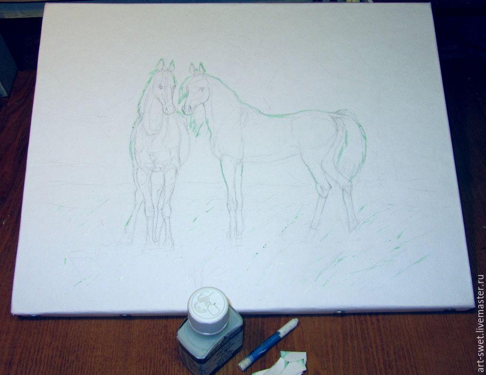 Как рисовать лошадок акварелью, фото № 2